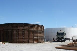 Fra bar mark til biogasanlæg på 12 uger