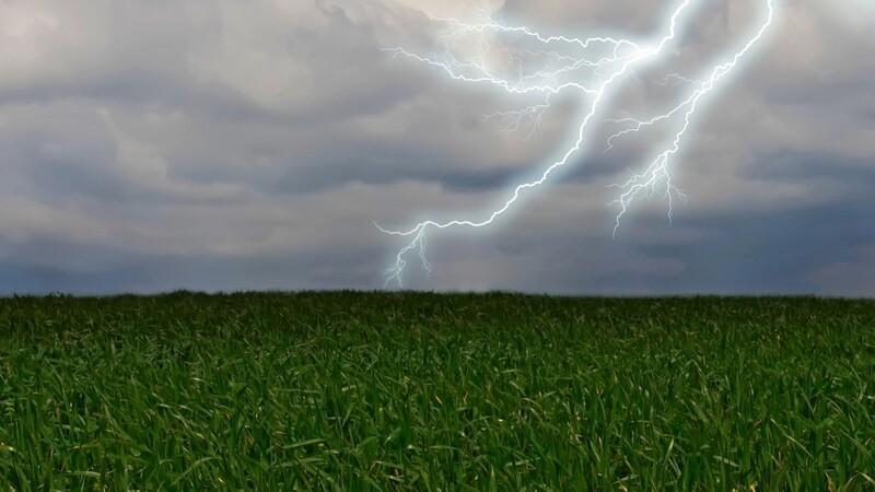 Tordenvejr kan give ødelæggelser i landbruget