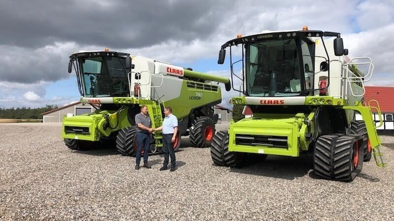 Lexion 780 på bælter redder høsten i Nordjylland