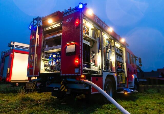 Voldsom gårdbrand i Nordjylland