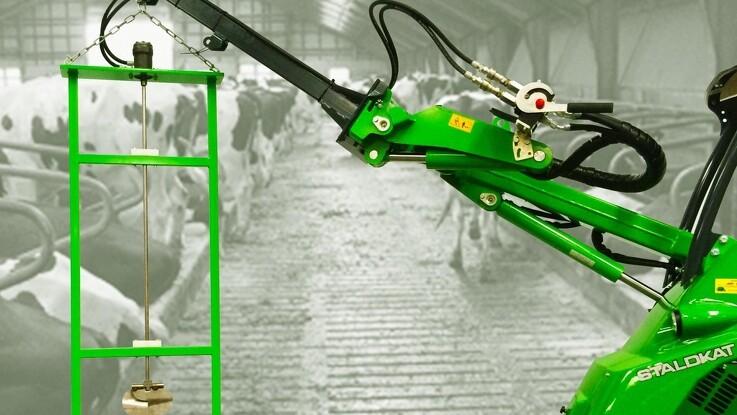 Hydraulisk gylleomrører sikrer flow under spalterne