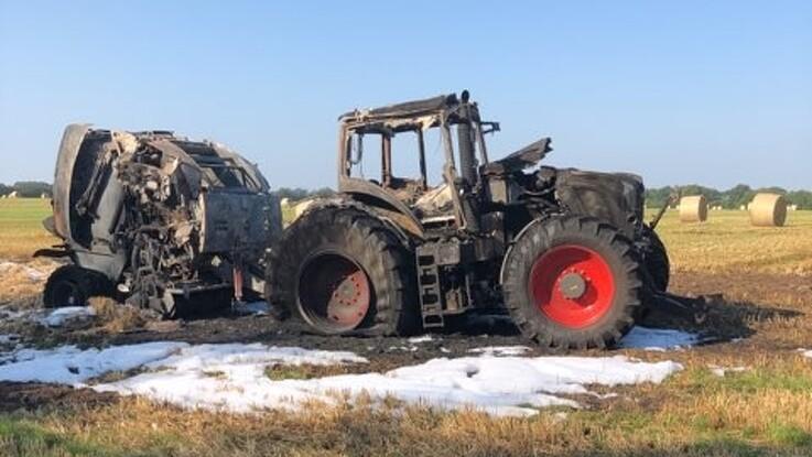 Landmand: Forbrændte fingre var intet mod min ødelagte traktor