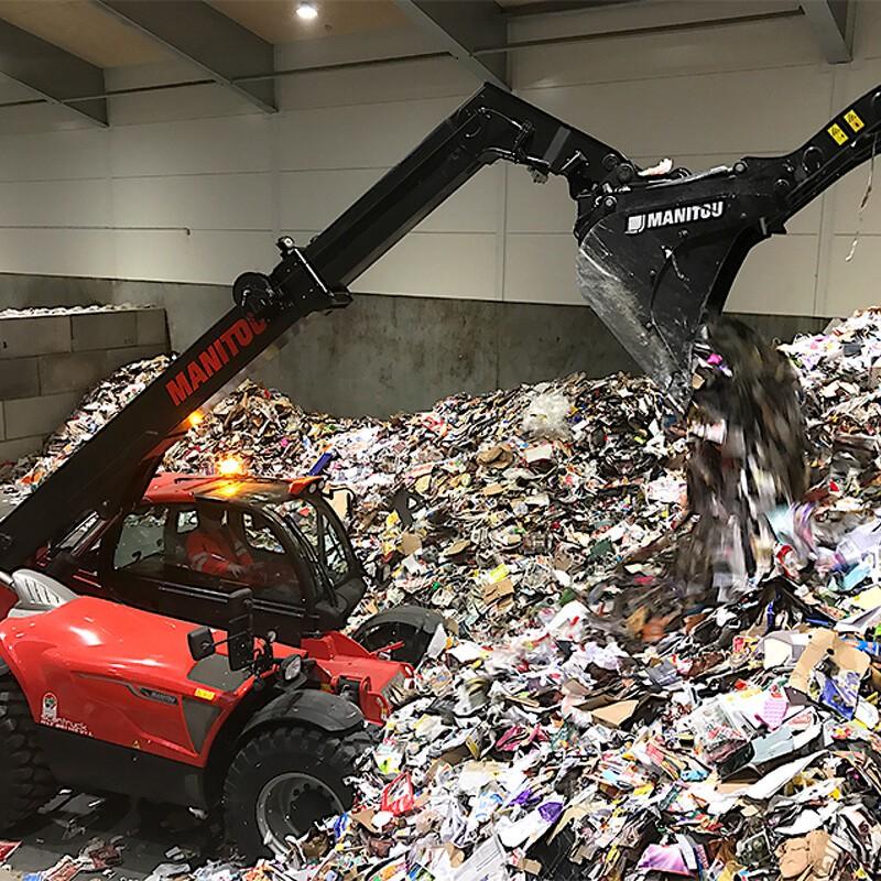 Effektiv affaldssortering kræver en Manitou