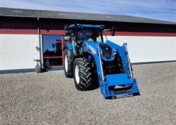 New Holland T6125 S  med New Holland 760TL frontlsser  DEMOPRIS